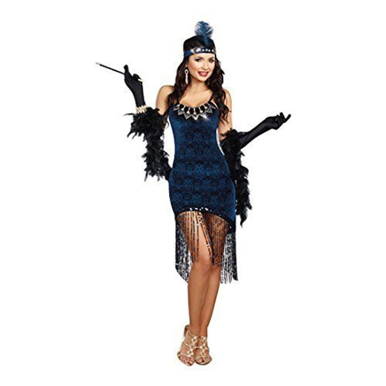 Adult Women Costume Night Party Dream Girl Gatsby New Ladies Fancy Dress Outfits