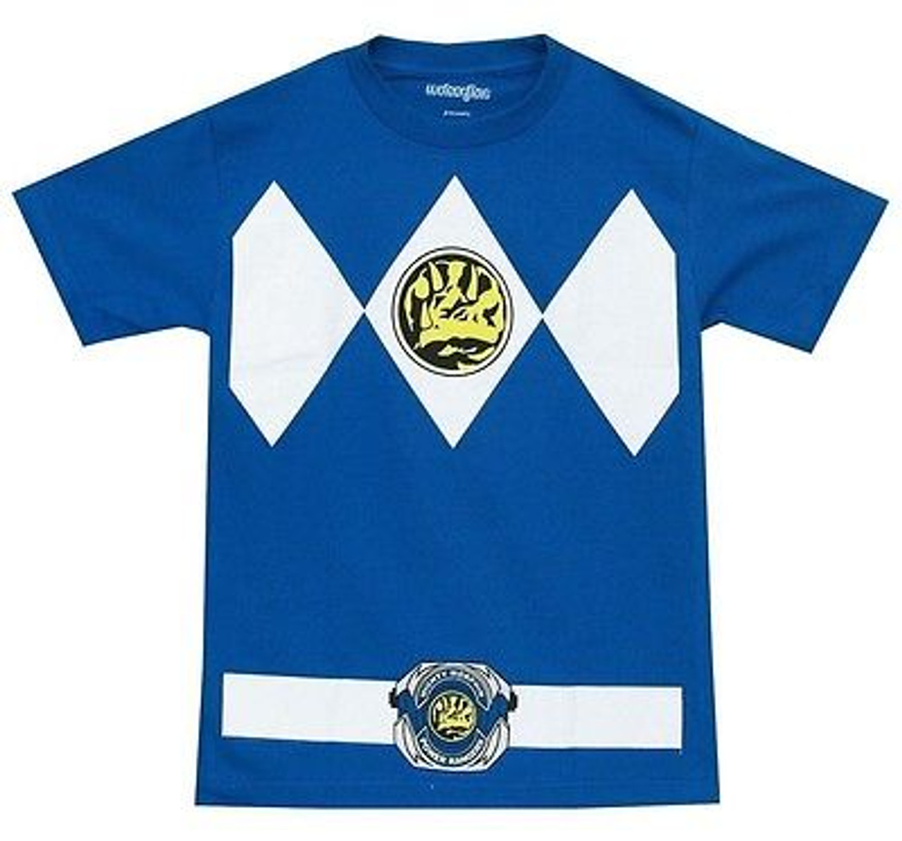Authentic POWER RANGERS Blue Ranger Costume T-Shirt S-3XL NEW