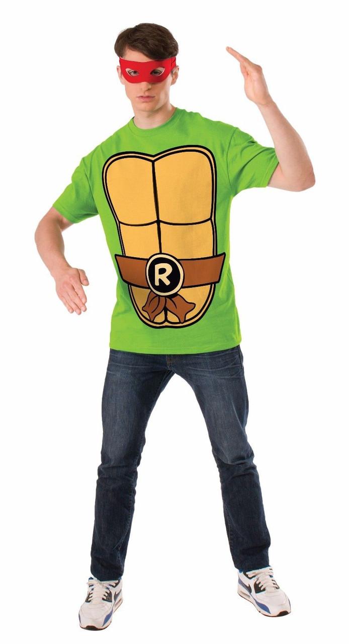 Ninja Halloween Costume Men.Rubies Tmnt Raphael Teenage Mutant Ninja Turtle Adult Men Halloween Costume