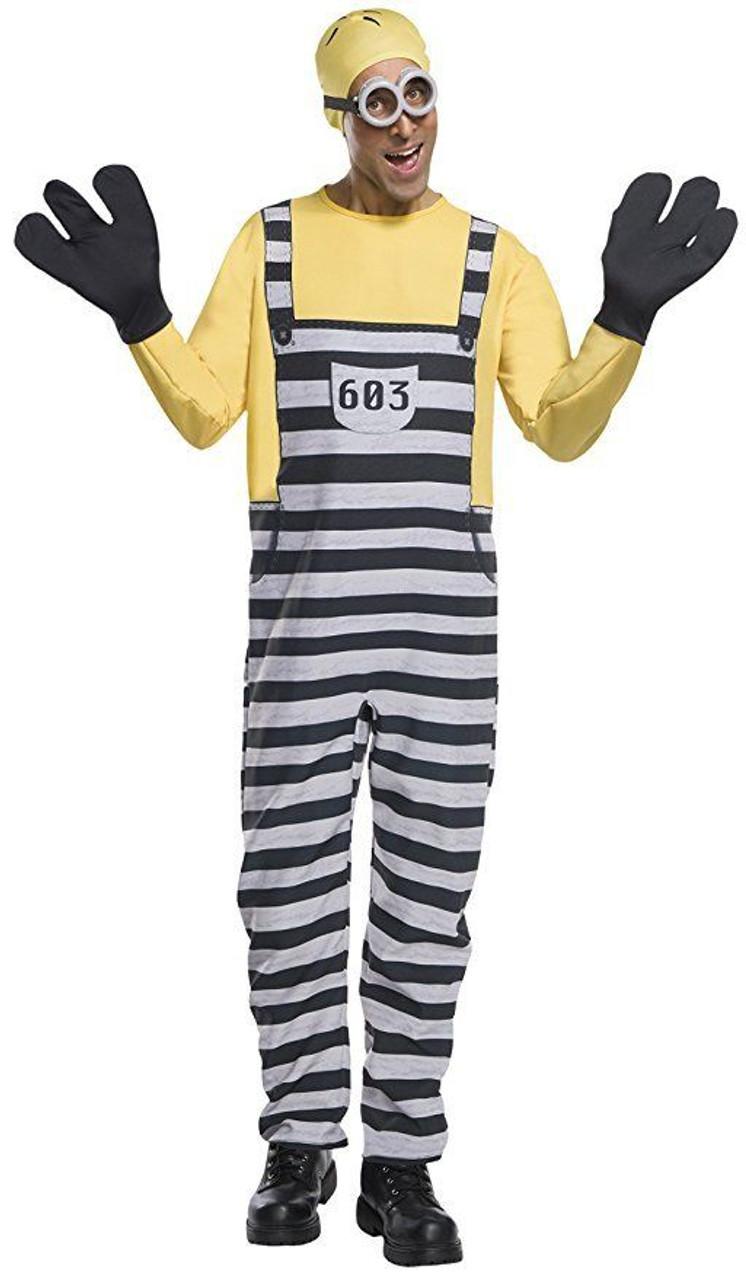 8e3d5e255ff Rubies Despicable Me 3 Jail Minion Tom Adult Mens Halloween Costume 820581