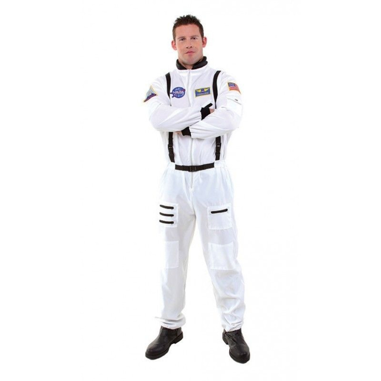 Astronaut Adult NASA Costume White Space Jumpsuit Underwraps 29362 Mens