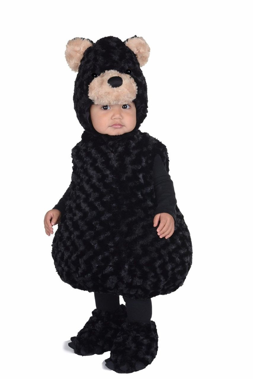 Underwraps black bear belly babies animal child boys halloween costume 25869