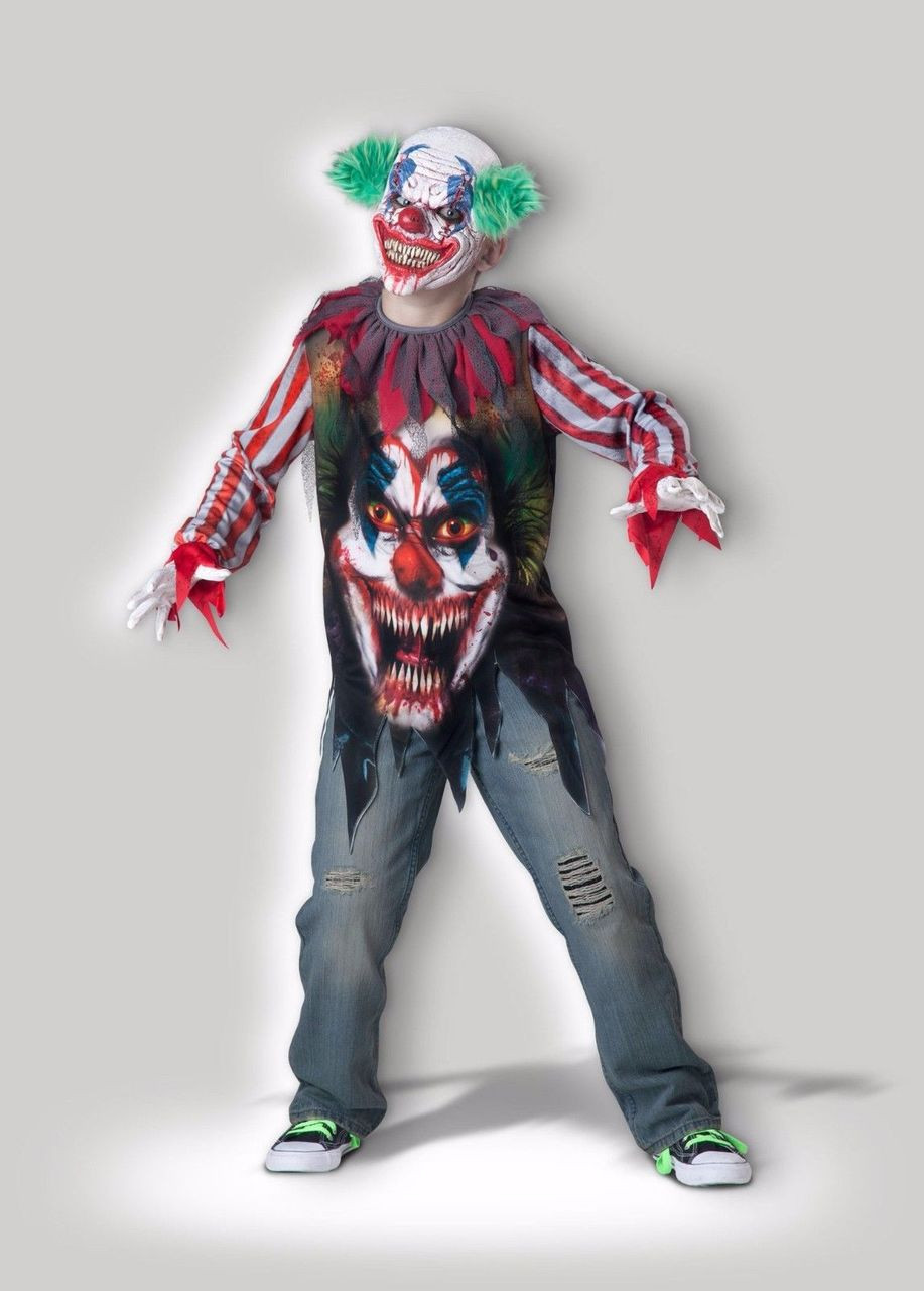 incharacter big top terror circus clown child boys halloween costume
