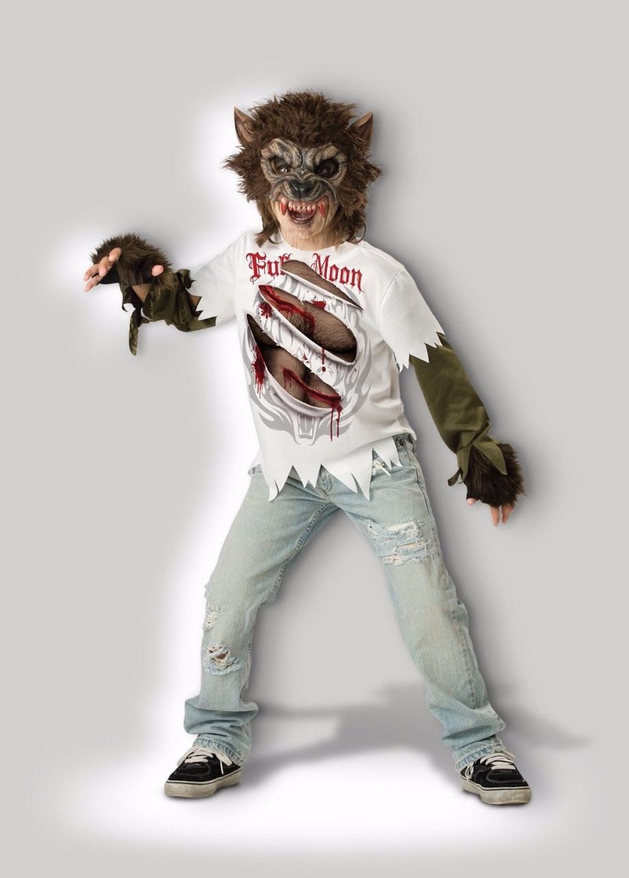 Incharacter Werewolf Moon Monster Creepy Child Boys Halloween Costume 17015