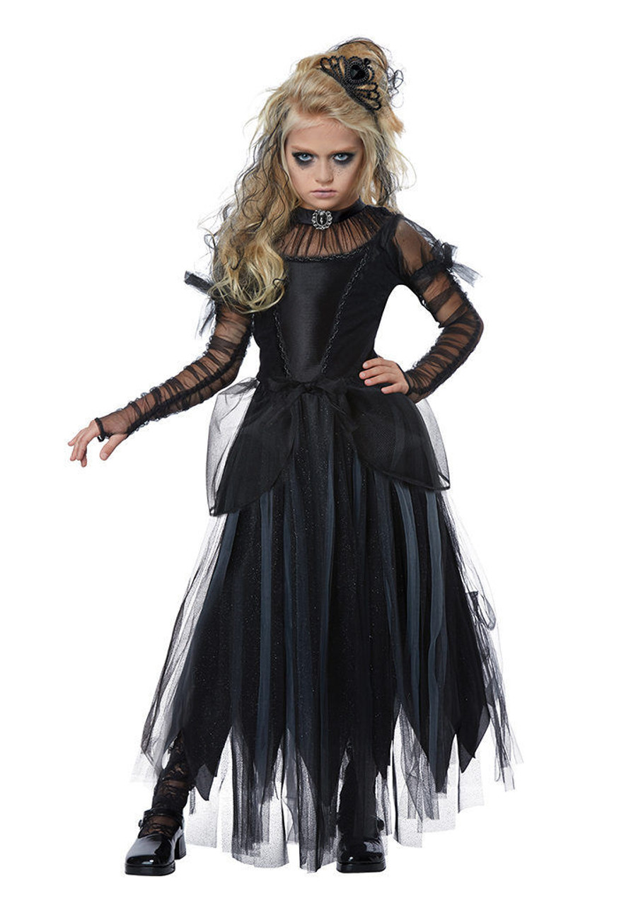 California Costumes Dark Princess Black Child Girls Halloween