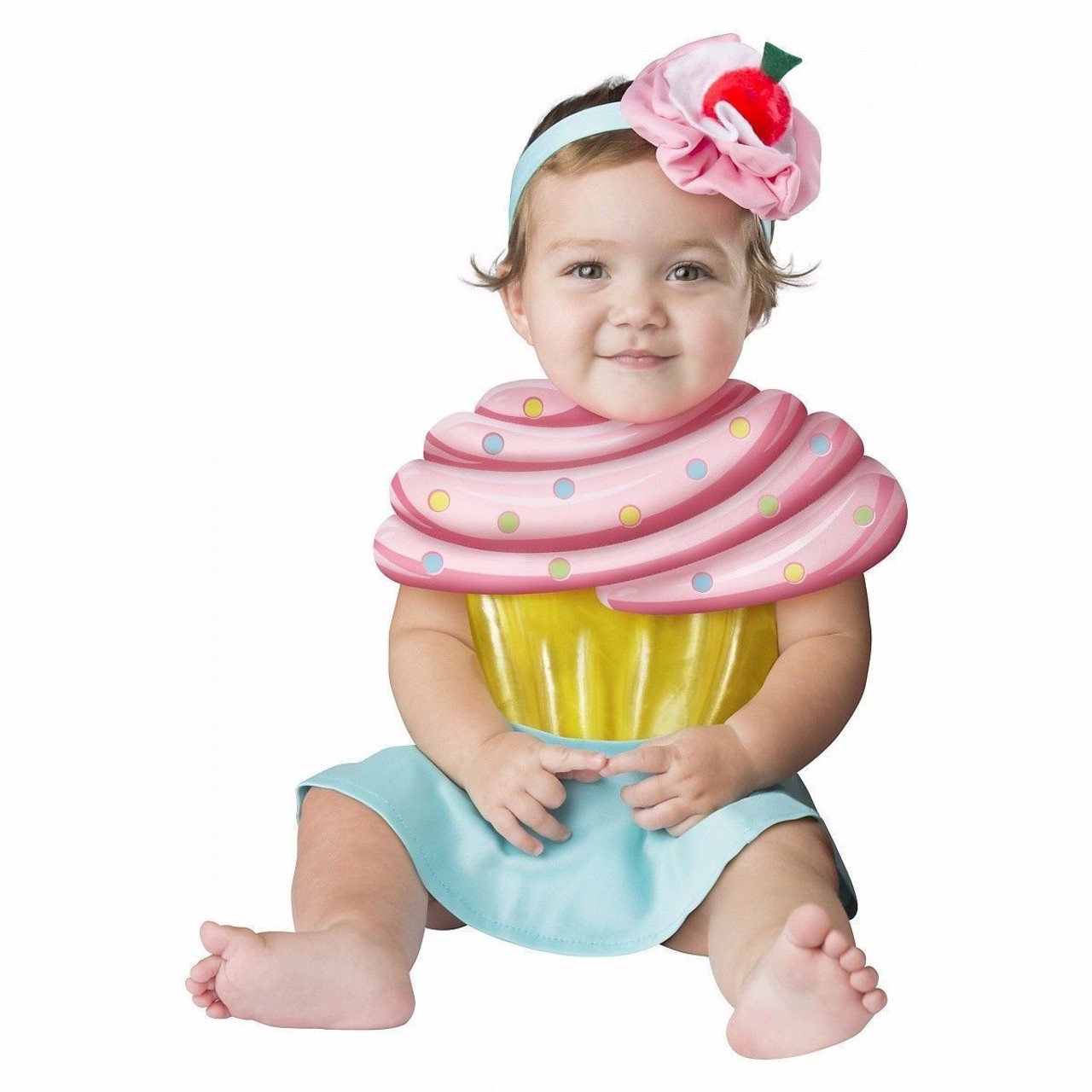70a1249ea2b8 Incharacter Cupcake Cutie Candy Sweet Girls Infant Baby Halloween Costume  16074 - Fearless Apparel