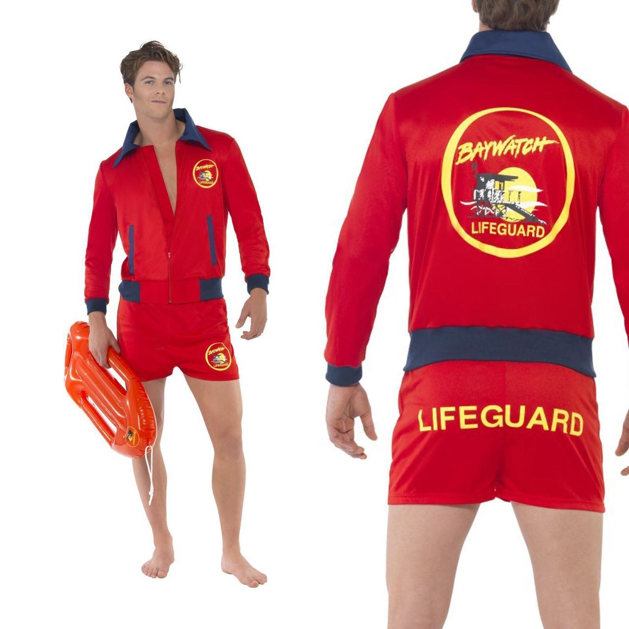 smiffys baywatch lifeguard beach the rock adult mens halloween