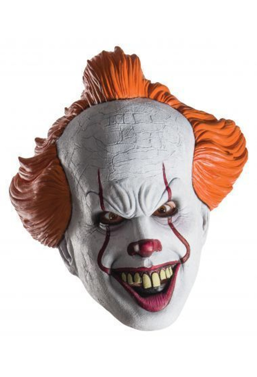 Halloween Clown.Rubies Pennywise It Movie 3 4 Scary Clown Circus Halloween Costume Mask 34718