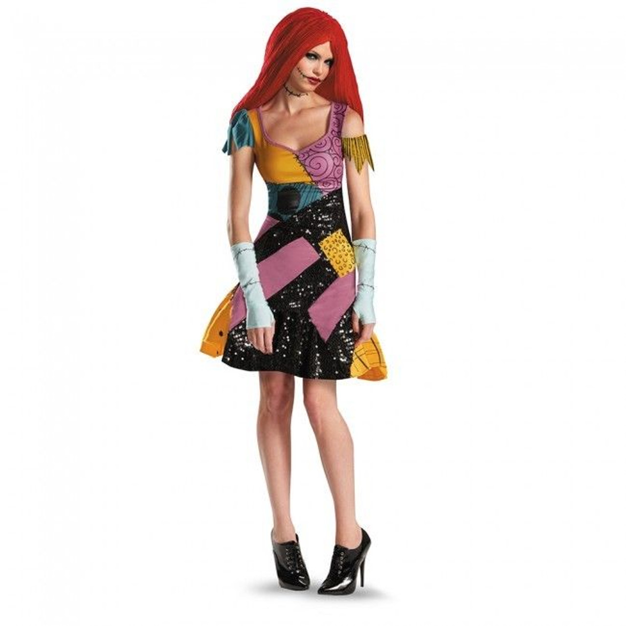 Disguise Nightmare Before Christmas Sally Glam Womens Halloween Costume  59328