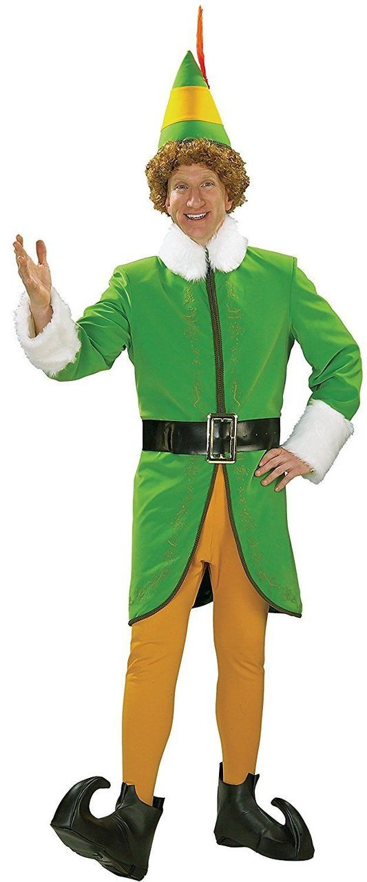 Buddy the Elf Adult Mens Costume Christmas Movie Will Ferrell Character Rubies