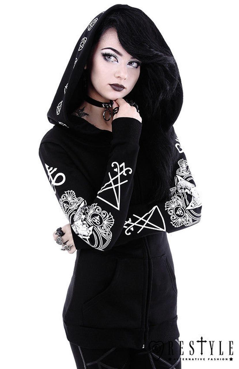 Restyle Witchcraft Occult Symbol Nugoth Punk Hoodie