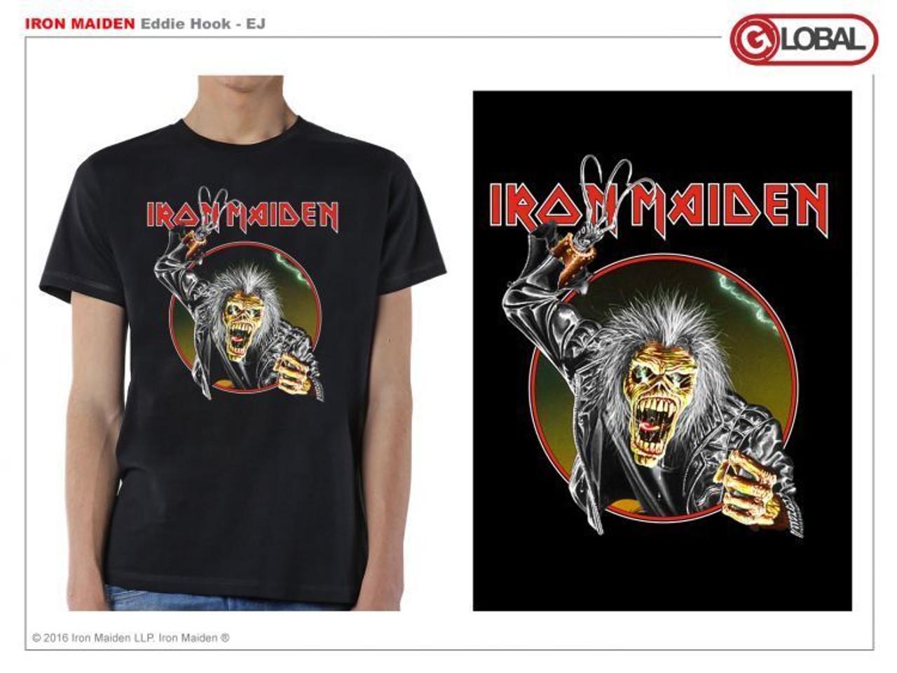 89713ddc Iron Maiden Eddie Hook Metal Music Rock Band Adult Mens T Tee Shirt IRM10237