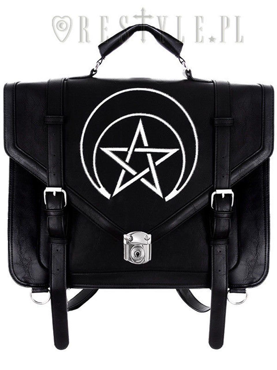 Restyle Unholy Messenger Emo Punk Rocker Goth Vegan Handbag Purse