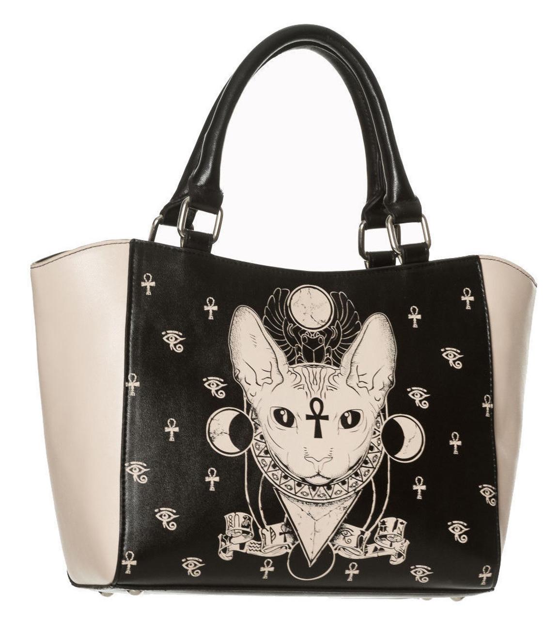 Lost Queen Gothic Bastet Sphynx Cat Occult Goth Zip Around Wallet Banned Apparel