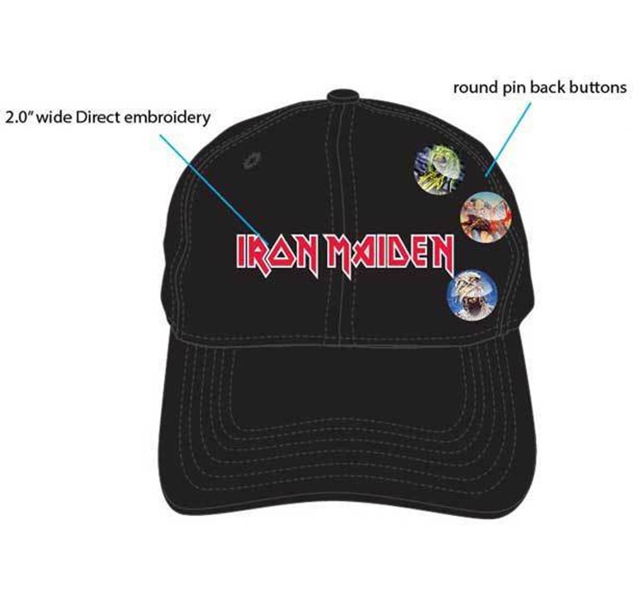 H3 Sportgear Iron Maiden Button Pin Adjustable Baseball Cap Dad Hat  BA00455IMDU - Fearless Apparel ecd9f5a8c47