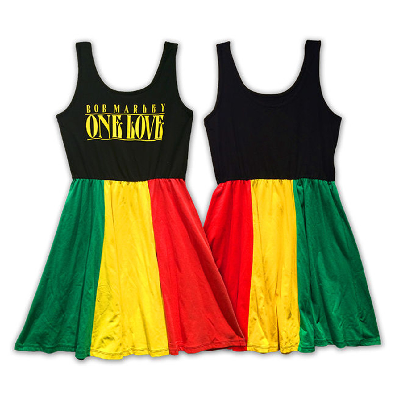 78c91345c545c3 Bob Marley One Love Rasta Tank Dress Womens Music Reggae Jamaica Ska  ZRBM1562 - Fearless Apparel