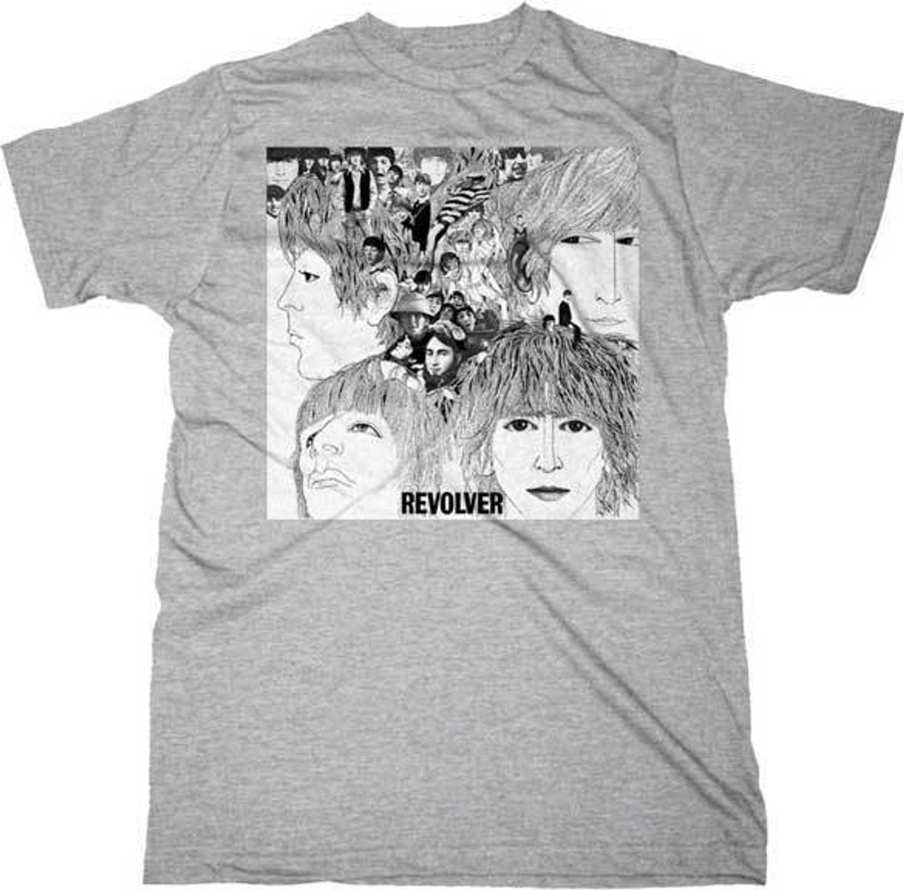 The Beatles Revolver Music Band Rock Heather Adult Mens T Tee Shirt 20611032