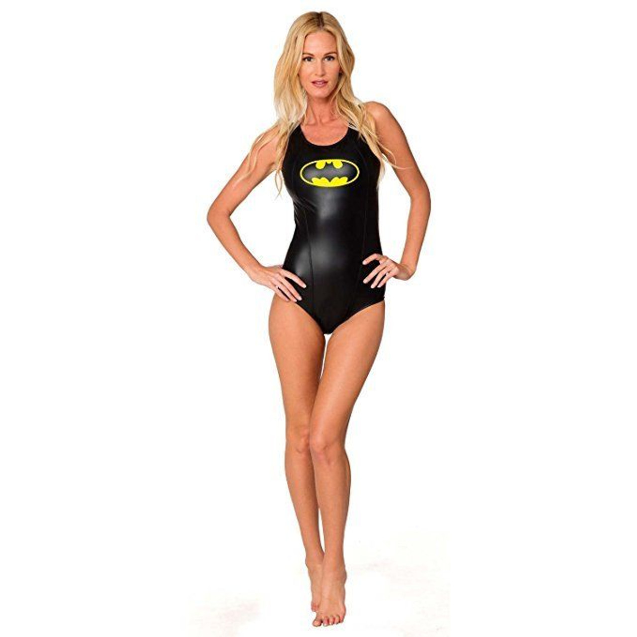 65bb960286335 Batman Logo DC Comics Swimwear Womens Bathing Suit Keyhole One Piece  Racerback - Fearless Apparel