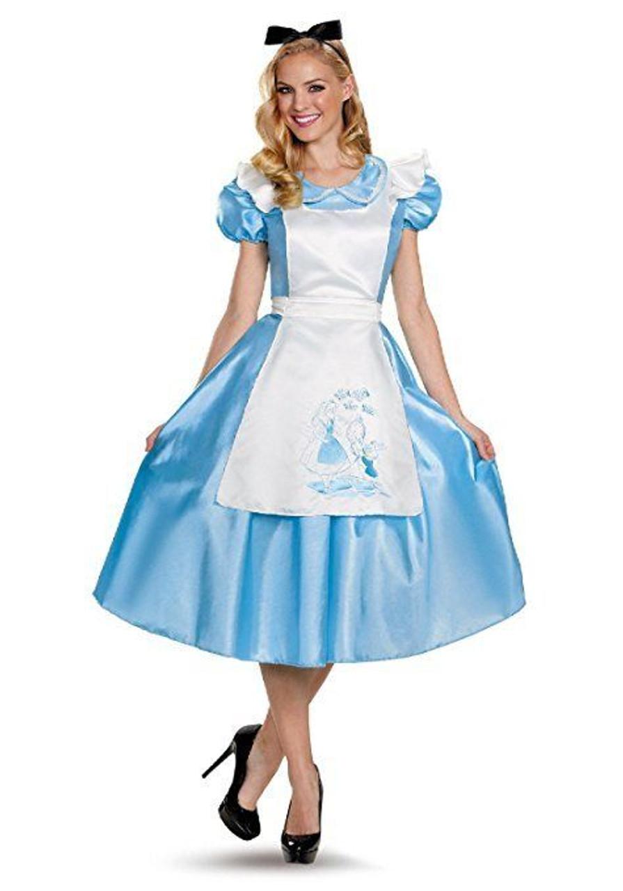 Disguise Alice In Wonderland Deluxe Adult Womens Halloween Costume