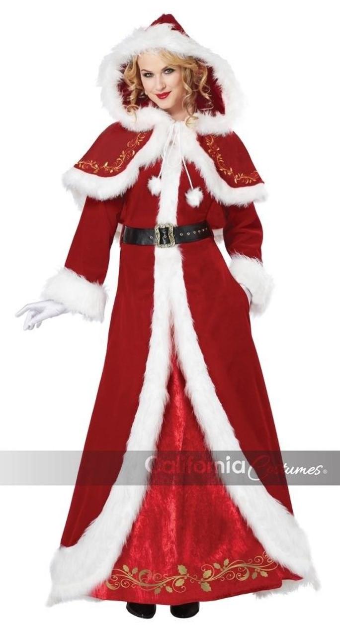 7238e0d54529 California Costumes Mrs. Claus Santa Christmas Xmas Costume Adult Women  01557