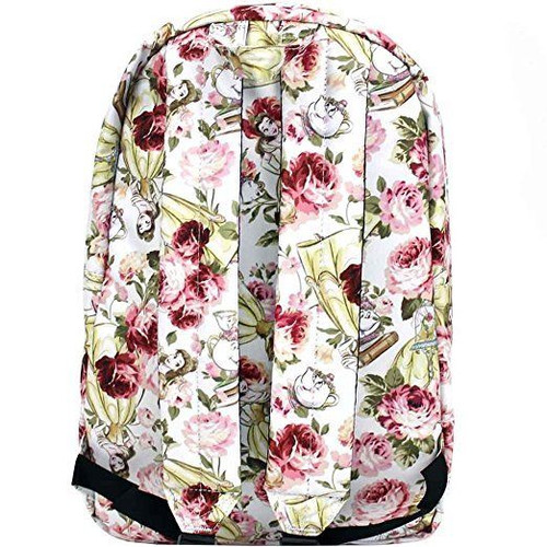 f1ef0867a9d ... Loungefly Disney Beauty and the Beast Belle Floral Womens Backpack  WDBK0348 ...
