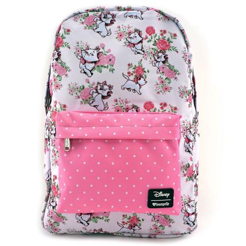 c4d3de27fc4 Loungefly Disney Aristocats Marie Floral Cartoon Duchess AOP Backpack  WDBK0337