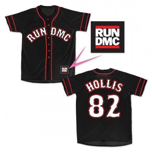 82f4c8207 Bravado Run DMC Baseball Jersey Hollis 82 Music Rap Hip-Hop Its Tricky  35192012