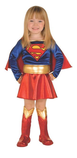 LICENSED SUPERGIRL GIRL TODDLER SUPERHERO FANCY DRESS HALLOWEEN COSTUME
