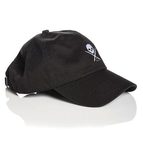 36b7c86b3bf ... Sullen Clothing Men s Pop Badge Skull Logo Dad Hat Strapback  Embroidered ...