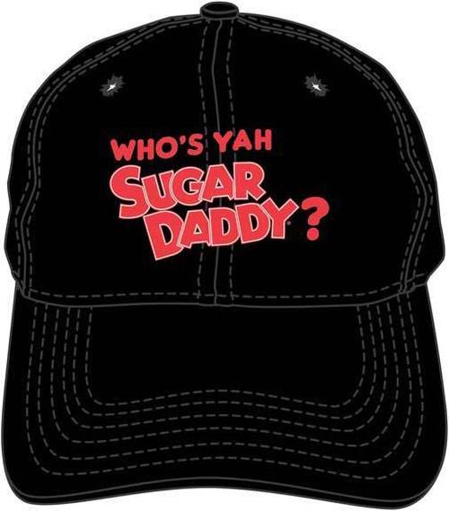 db849d021d9 Who s Yah Sugar Daddy Candy Black Embroidered Dad Hat Baseball Cap  BA01837TRIU