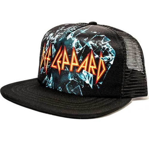 01a2b62a Def Leppard Mesh Sublimated Hard Rock Heavy Metal Trucker Cap Hat  TC00468DFLM