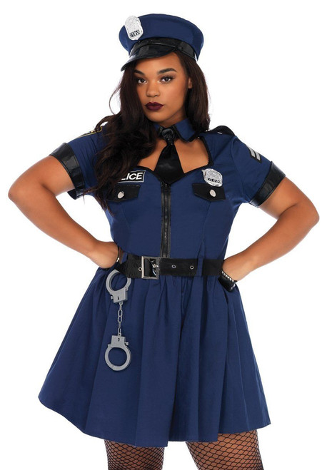 Dirty Cop Plus Size Adult Womens Costume 83344 Leg Avenue Police Officer