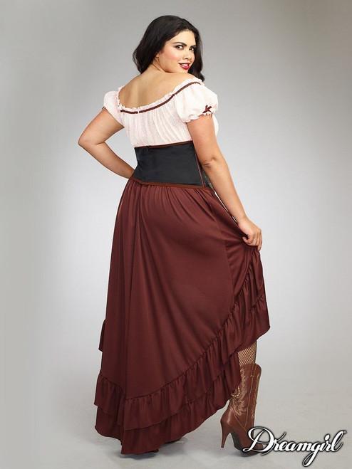 Dreamgirl Saloon Gal Western Adult Plus Size Womens Halloween ...
