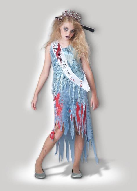 California Costumes Zombie Prom Queen Dress Child Girls