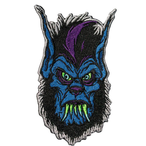 1d34e77eb09628 Kreepsville 666 Toxic Toons Wolfie Emo Goth Punk Embroidered Iron On Patch  PTTWH