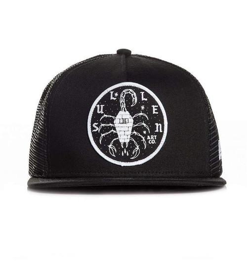 86869221faf Sullen Clothing Killing Time Scorpion Art Snapback Trucker Mesh Cap Hat  SCA2204