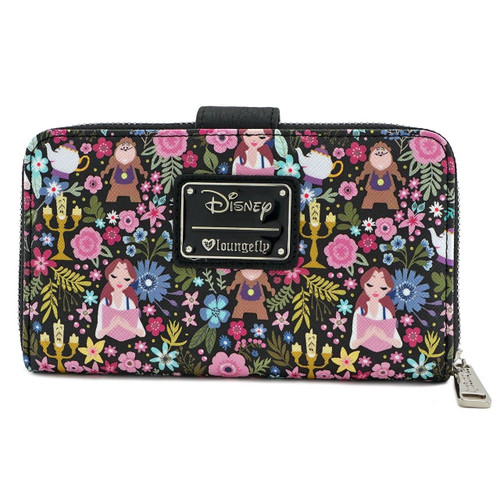 0a2a61cf8b8b Loungefly Disney Beauty and the Beast Belle Floral Faux Leather Wallet  WDWA0704