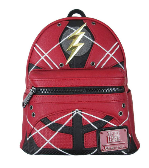 be135a321bee Loungefly DC Comics Flash Justice League Mini Faux Leather Backpack  DCCBK0007
