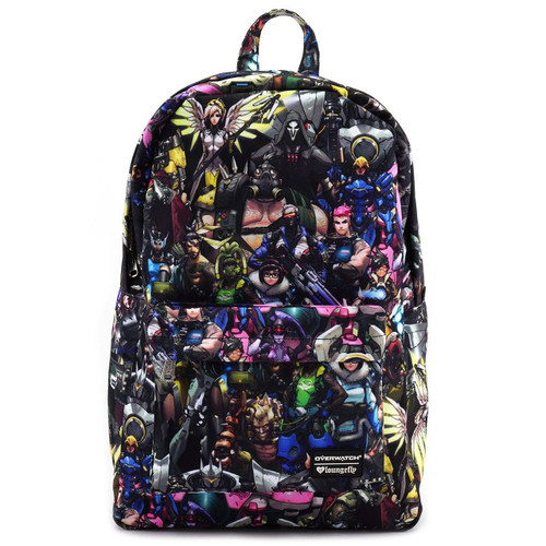 85f580084f044 Loungefly Overwatch Characters Print Gamers School Book Bag Backpack  OWBK0003