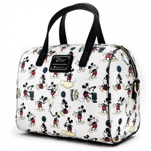 ... Loungefly Disney Mickey Mouse Poses Faux Leather Duffel Tote Bag Purse  WDTB1415 2a4a6dee8ed9d