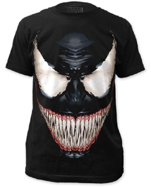 d574b5bfc0232d Marvel Universe Comic Books Venom Sinister Smile Spider Man Tee Shirt  SUBVEN02