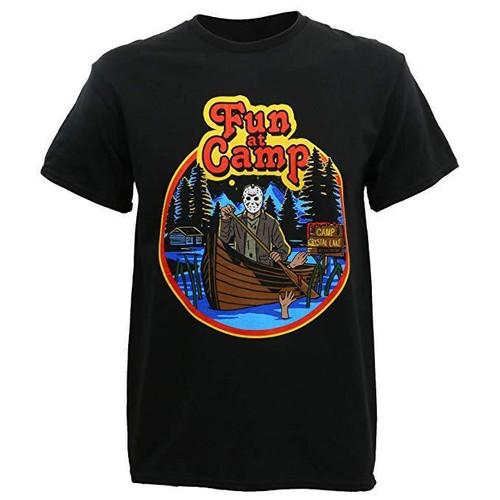 5ac00c671ee4 Friday The 13th Jason Retro Boat Camp Crystal Lake Horror Movie T Shirt  72-269