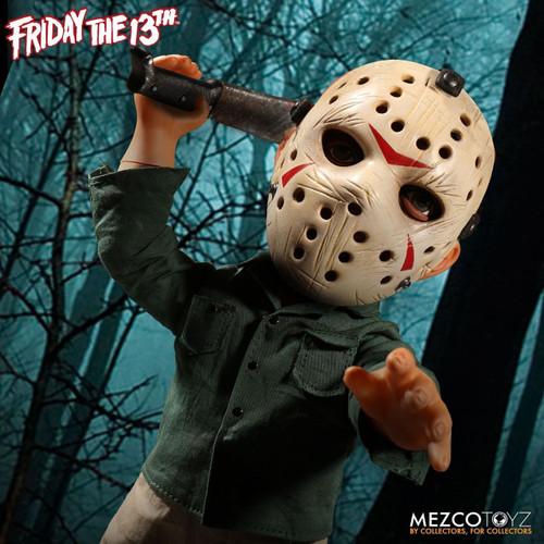 "Mezco Friday the 13th JASON VOORHEES 15/"" MEGA FIGURE doll with sound NIB"