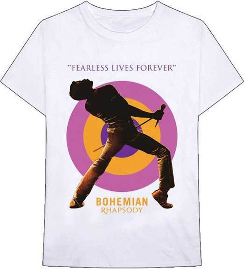 7b216429628f0 Queen Bohemian Rhapsody Fearless Lives Forever Classic Rock T Shirt 32771192