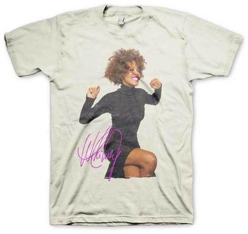 b1b49bf8 Whitney Houston Smile R&B Pop Soul Dance Gospel Singer Music T Shirt  32011019
