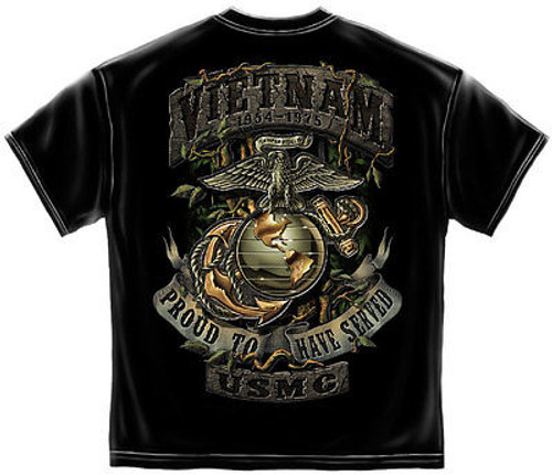 56a0803690e Usmc Vietnam Veteran Gun Freedom Usa America Military Mens T Tee Shirt S-3Xl