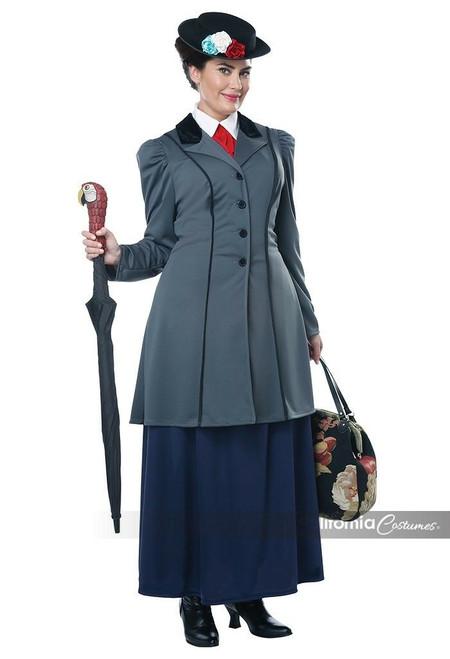 Anglais nounou-Mary Poppins enfant costume-California costumes