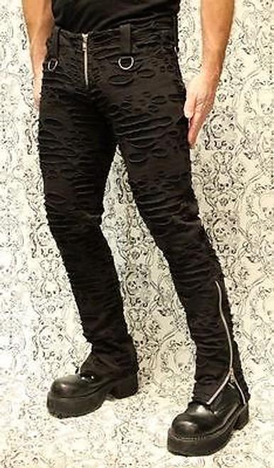 Black chain bondage pants opinion, actual