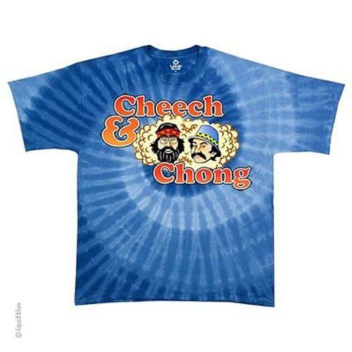 b456fcd9f0f98f Cheech & Chong Spiral Up In Smoke Stoner Comedy Funny Tie Dye T Shirt M-2Xl