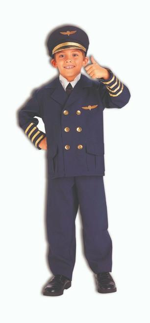 Halloween Airline Airplane Pilot Navy Adult T-Shirt